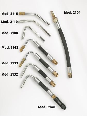 kit tubetti accessori per pistole olio