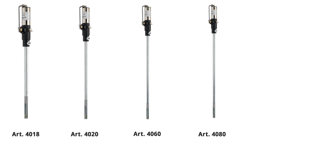 Pneumatic pumps for the dispensing of grease at short and medium distances or for high pressure lubrication