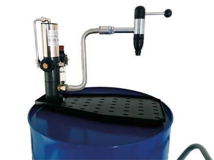 Drum dispensing bar for 208 l drums suitable for oil and antifreeze