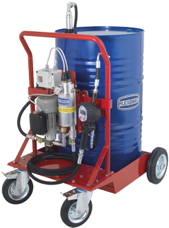 Mobile electric oil dispensing kit