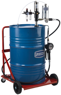 Mobile pneumatic oil dispensing kit,for 208 l drums MID approved