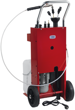Mobile waste oil suction unit