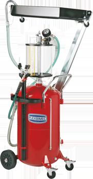 Serbatoio aspiratore e recuperatore olio esausto carrellato