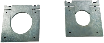 Flangia metallica fissaggio pompe