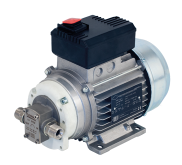 Electric gear pump, self-priming, protection category IP 55, for the supply of oil, antifreeze, diesel, water at medium pressure