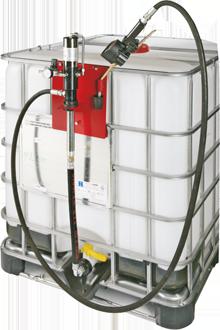 Kit distribuzione di olio da fissare su IBC da 1000 l