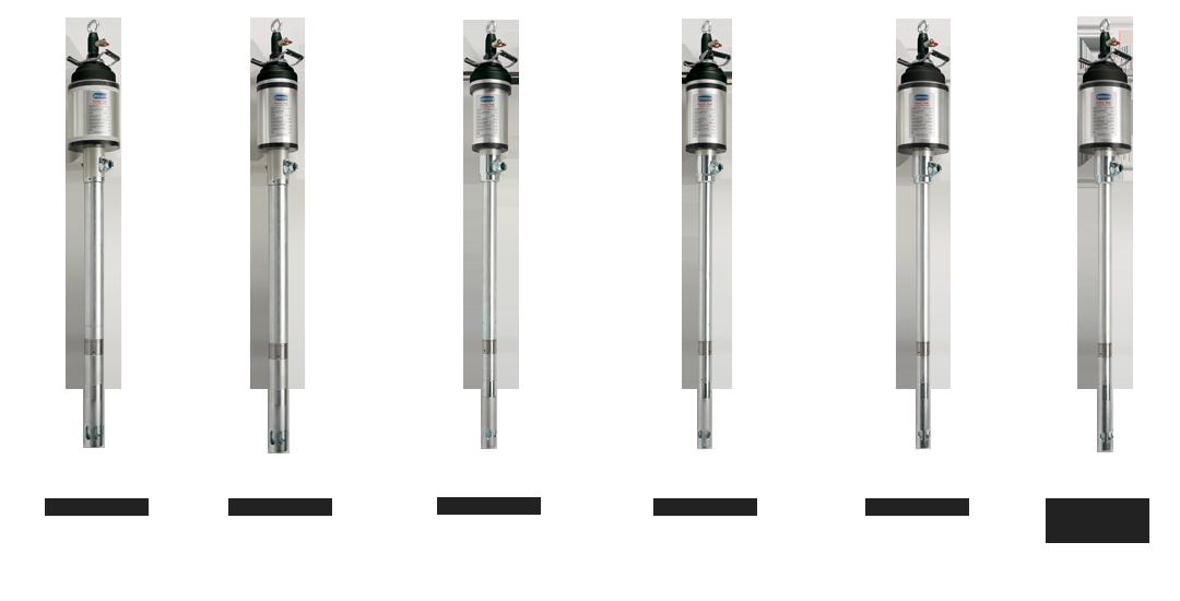 "Heavy duty pneumatic pumps, industrial pump series ""Power Bull"" art 4046-4047-4048"