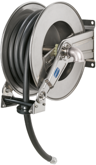 Automatic rewind, spring-driven hose reel, adjustable arms series