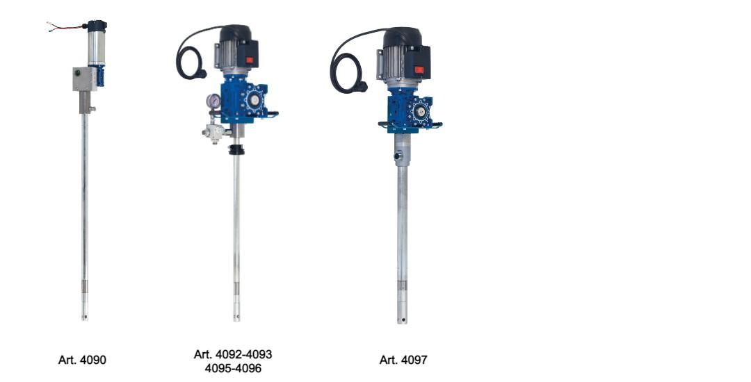 art 4090-4092-4097 Pompe elettriche per la distribuzione di grasso