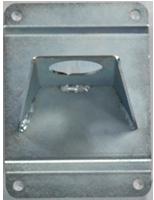 Wall bracket in galvanized steel
