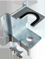 Staffa in acciaio zincato