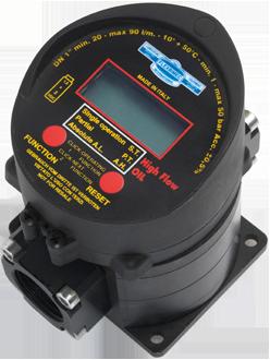 Electronic oval gears flow meter for diesel