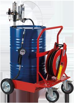 Mobile pneumatic oil dispensing kit, for 208 l drums MID