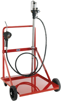Unità pneumatica di distribuzione olio mobile per fusti da 208 l