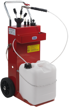 Aspiratore olio esausto con pompa rotativa pneumatica