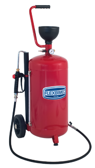 Mobile oil dispensing unit, consisting of 40 l container
