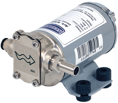 Electric gear pump for an intermittent use, for the transfer of hydraulic low viscosity oil, antifreeze, diesel, water