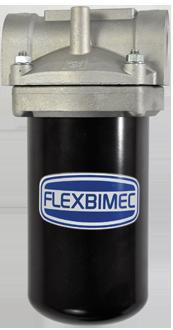 Filtro per gasolio e benzina con elemento filtrante interno con cartuccia