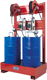 Stationary pneumatic oil supply station MID MI-005 approved