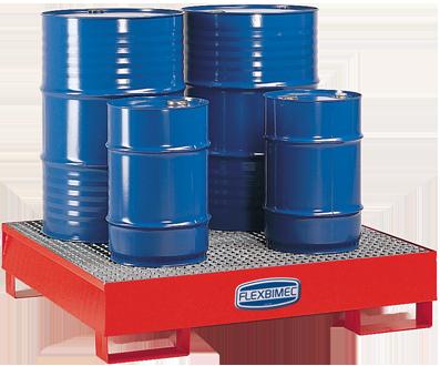 Base di contenimento in acciaio verniciato per olio