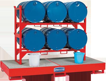 Barril de metal barril, empilhável, para armazenamento horizontal de tambores