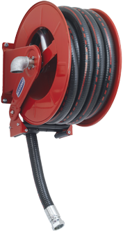 Automatic rewind, spring-driven hose reel, adjustable arms series EVO