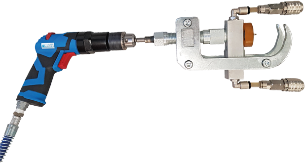 Evacuation unit for shock absorbers