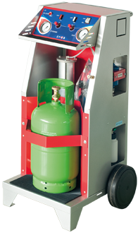 Mobile evacuation and recycling kit for air conditioning gas
