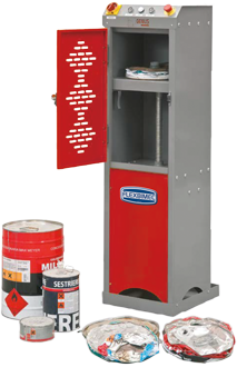 Industrial can crusher