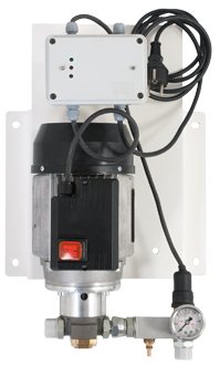 Electric, self-priming gear pump for the supply of oil, antifreeze, diesel, water at medium pressure