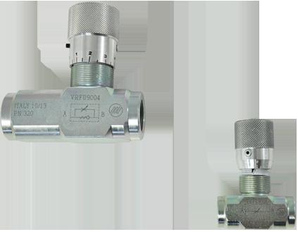 Flow regulator valve, 90° – elbow type