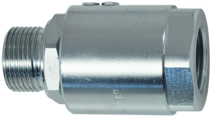 Swivel joint, straight type, with ball valve