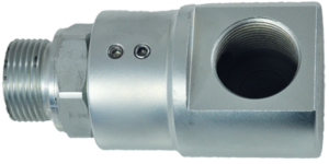 Swivel joint, 90° – type, with ball valve
