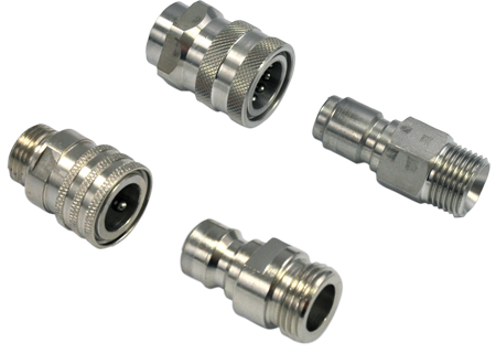 Valved quick couplings and quick connectors
