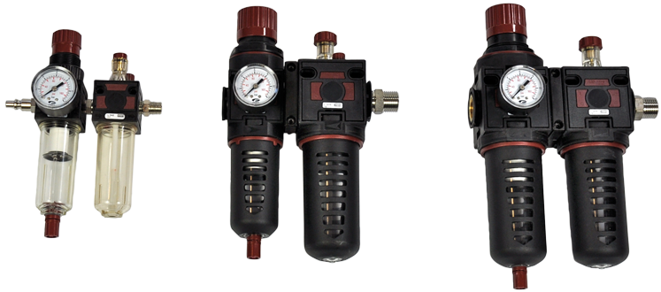 Combined compressed air treatment kit