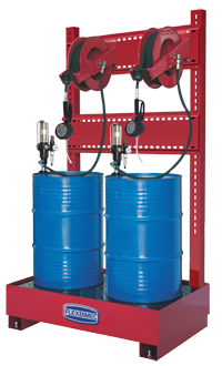 art art 8549 Stationary pneumatic oil supply station for 2x208 l drums
