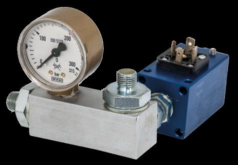 art 4265 flexbimec Pressostato di comando regolabile con valvola di massima.
