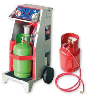 Kit carrellato per il recupero e il riciclo dei gas di condizionamento